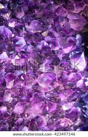 Background vibrant edgy amethyst crystals