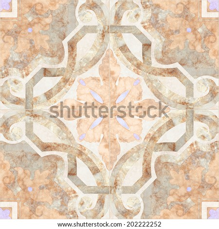 Background vintage antique mosaic tiles. Seamless pattern. Abstract wallpaper - stock photo