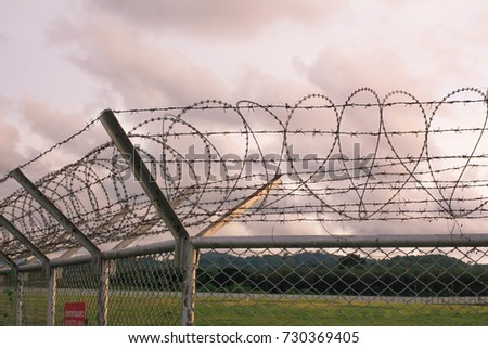 Background War Net Barrier Barbed Wire Stock Photo (Safe to Use ...