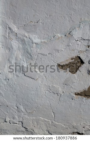 Background white wall texture with destruction