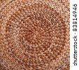 Background. Wicker texture has made from banana and rattan. Circle - stock photo