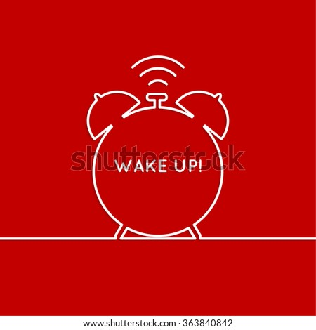 Background with alarm clock. The concept of early awakening. morning  wake up and deadline. - stock photo