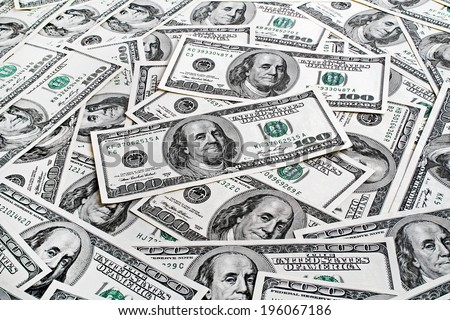 Background with american dollars - stock photo