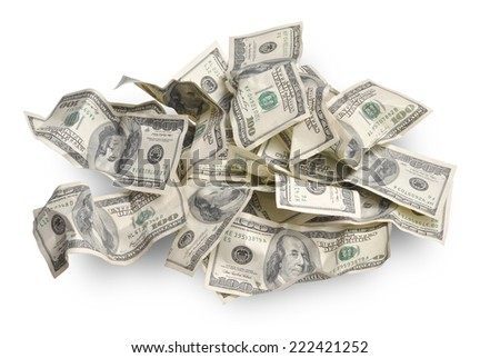 Background with american hundred dollar bills - stock photo