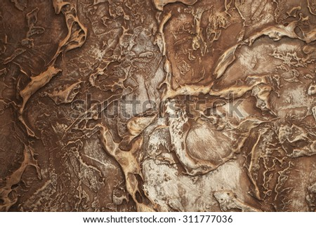 Background with an abstract pattern made on the wall - stock photo