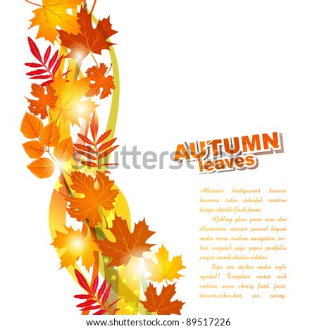 background with autumn leaves (JPEG version) - stock photo