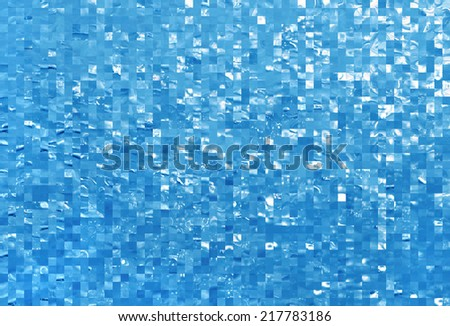 Background with blue abstract checkered pattern - stock photo