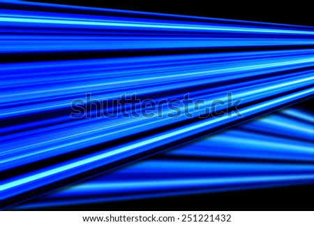 Background with blue and black abstract glowing lines. - stock photo