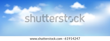 Background With Blue Sky And Clouds - stock photo