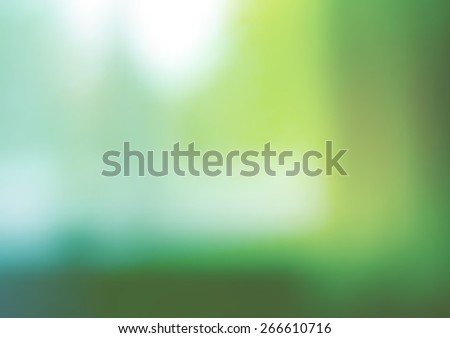 background with blurred objects, abstraction in green color - stock photo