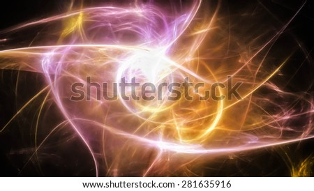Background with bright energy light
