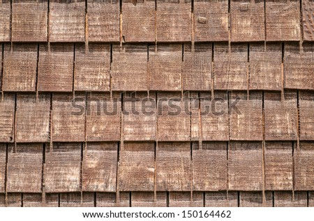 Background with brown wooden shingles