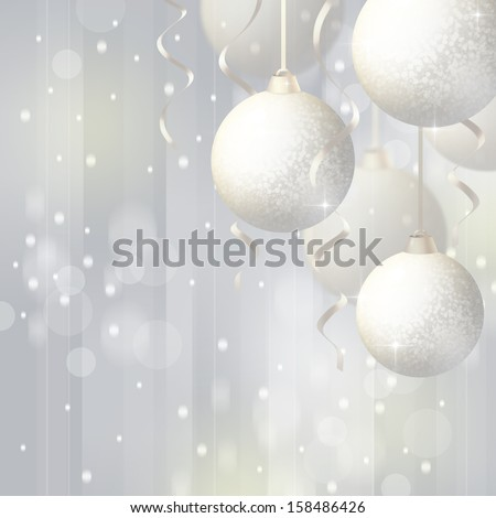 Background with Christmas balls - stock photo