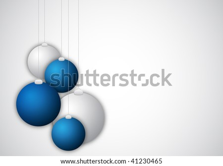 background with christmas balls for design