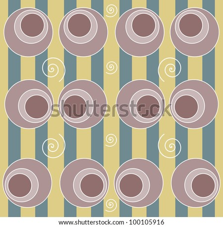 background with circle and swirls - stock photo