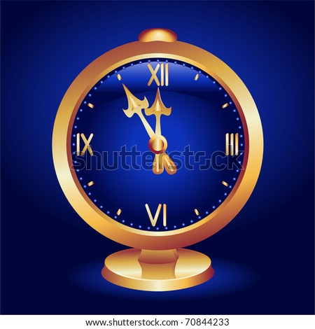 Background with clock. Raster version of vector.