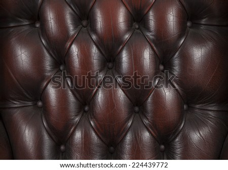 background with close-up of brown chesterfield leather