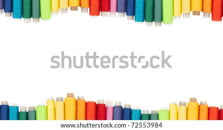 Background with coils of threads, isolation - stock photo