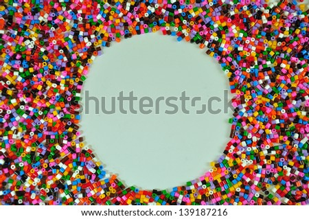 Background with colored granules