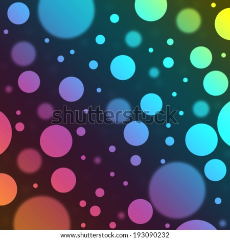 Background with colorful bubbles