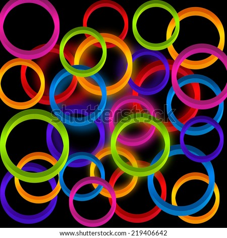 Background with colorful circles . - stock photo