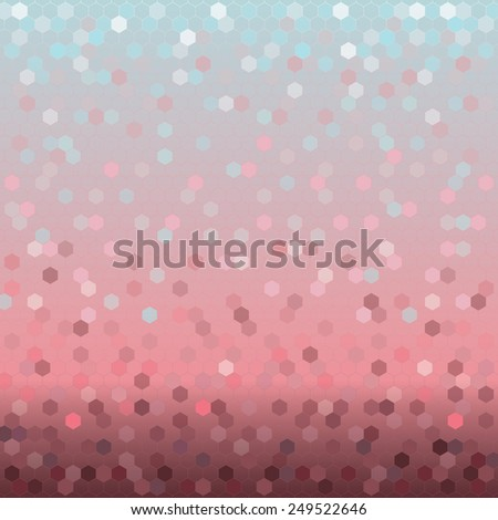 Background with colorful shining hexagons. Template for the manufacture of wallpaper on the walls, textiles, wrapping paper, gifts , interior design. - stock photo