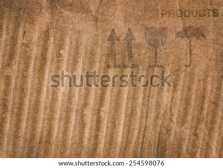 Background with corrugated paper - stock photo