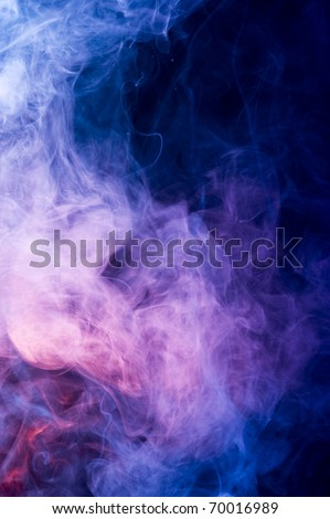 Background with creative smoke