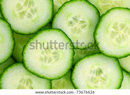 background with cucumbers