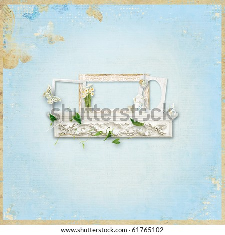 Background with decoration - stock photo