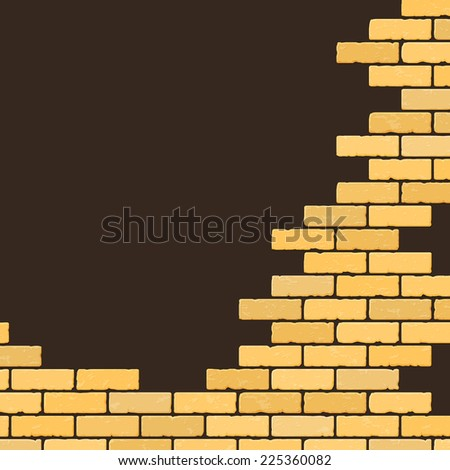 Background with decorative brick wall - stock photo