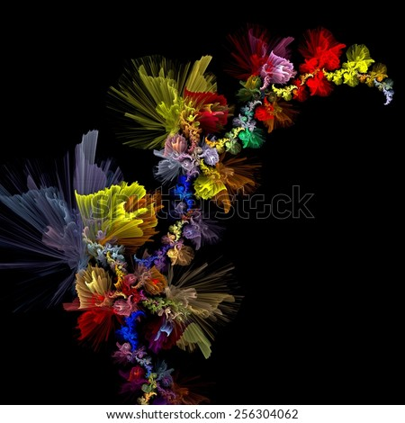 background with decorative flowers  - stock photo