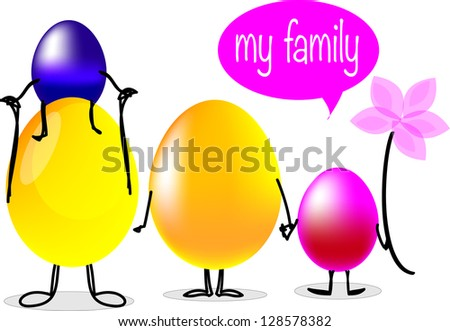 Background with Easter card. Vector illustration - stock photo