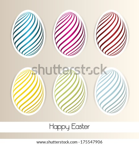 Background with Easter Eggs - stock photo