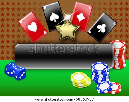 background with elements of gambling. free space for personalization