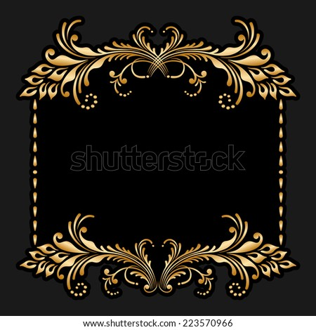 Background with floral pattern for greeting or invitation card. Raster version. - stock photo