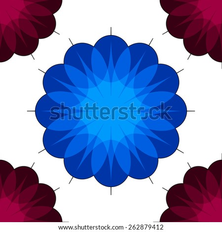 Background with flowers. Raster. 5 Raster.  - stock photo