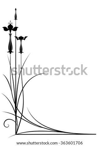 background with fuchsia in black and white color for corner design - stock photo
