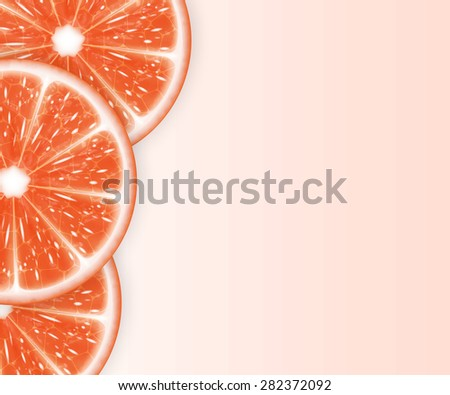 Background with grapefruit slices