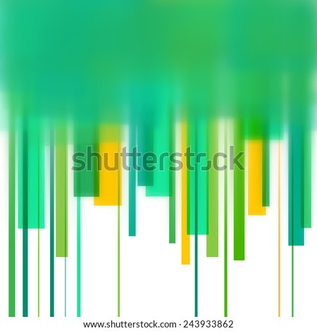 Background with green lines and blurred edge - stock photo