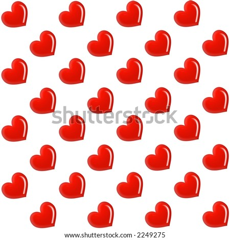 Background with hearts - stock photo