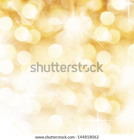 Background with lights and glitter - stock photo