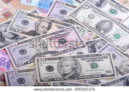 Background with money american dollar bills - stock photo