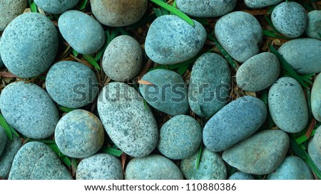 background with Pebble stones, close-up - stock photo