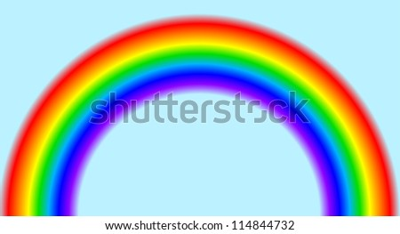 Background with rainbow