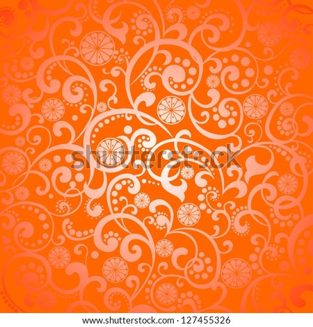 Background with slices of orange.  Illustration - stock photo