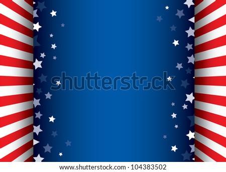 Background with stars decorative frame - stock photo