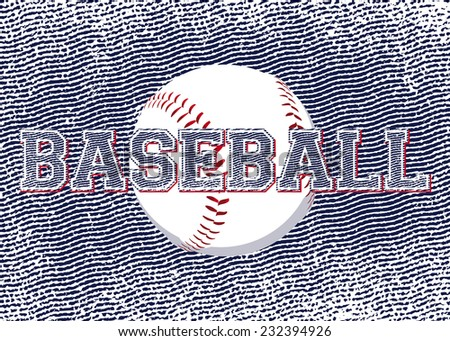Background with the ball and the words baseball - stock photo