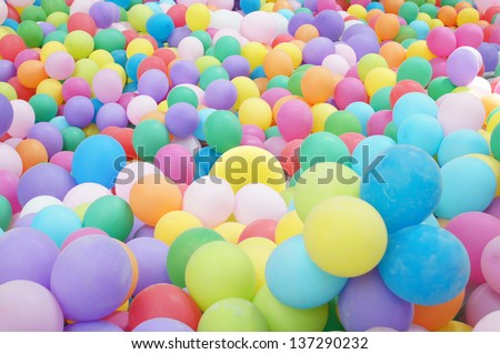 Background with the image of multicoloured balloons
