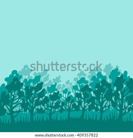background with the image of the forest